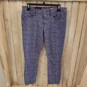 NWOT J.Crew Toothpick Blue White Checkered  Capris
